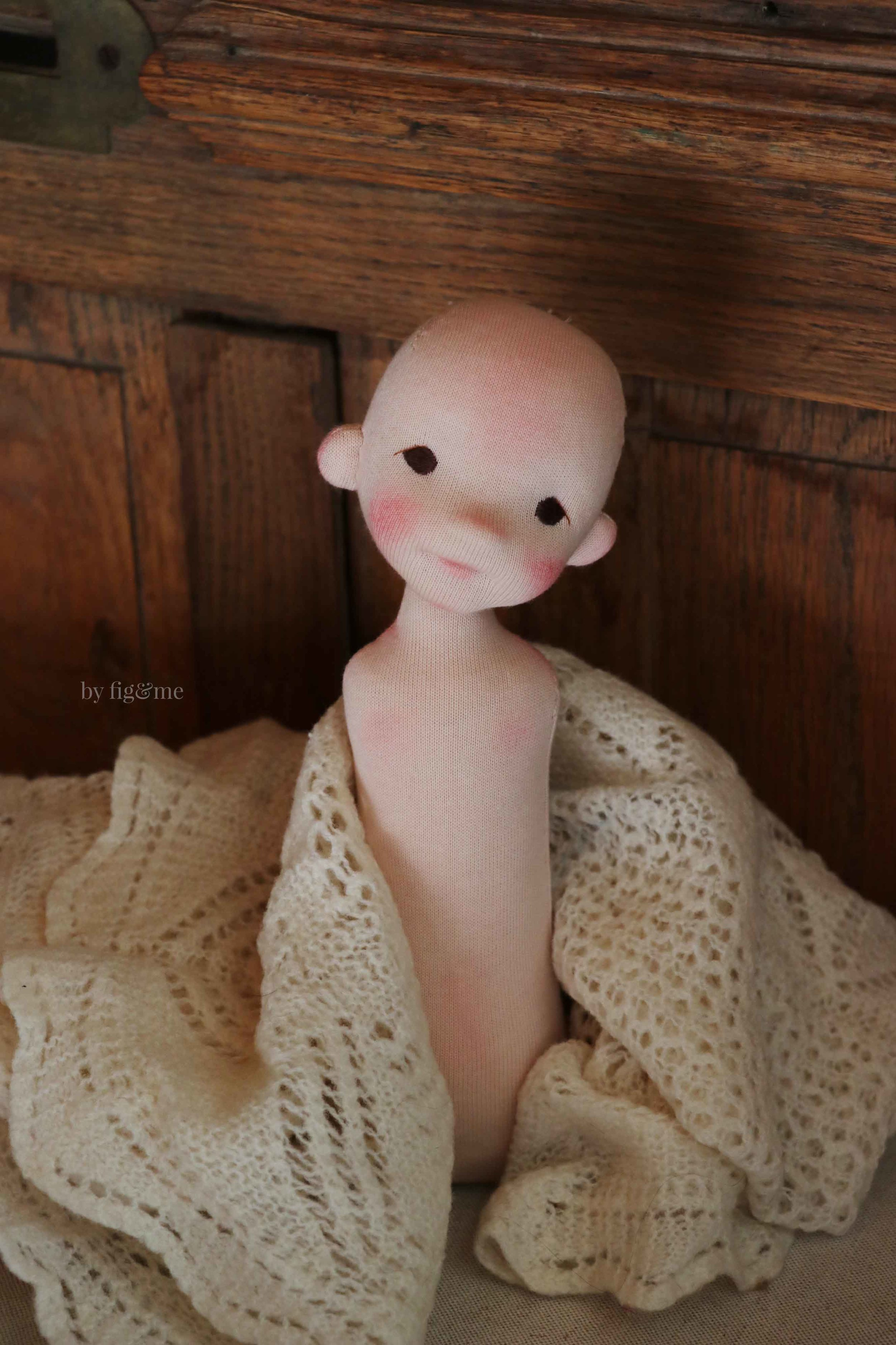 Rye, art doll by Fig and Me.