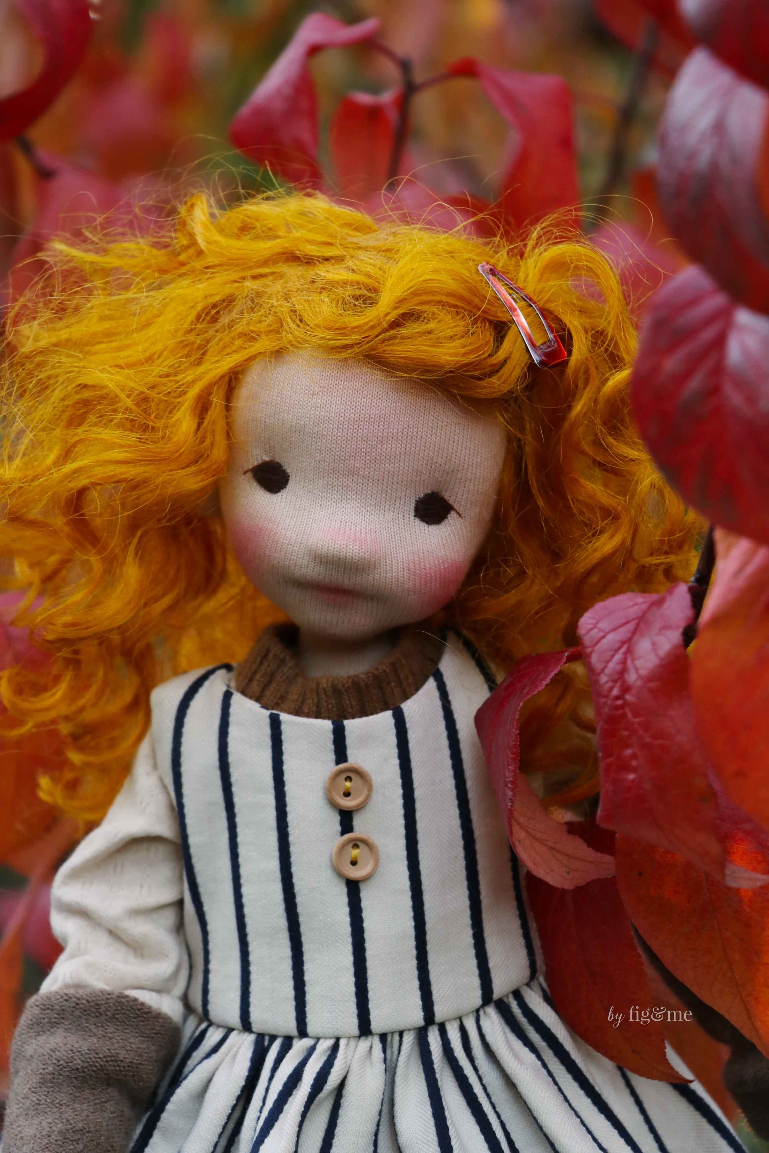 Rye, a jointed all-natural fiber art doll by Fig and Me.