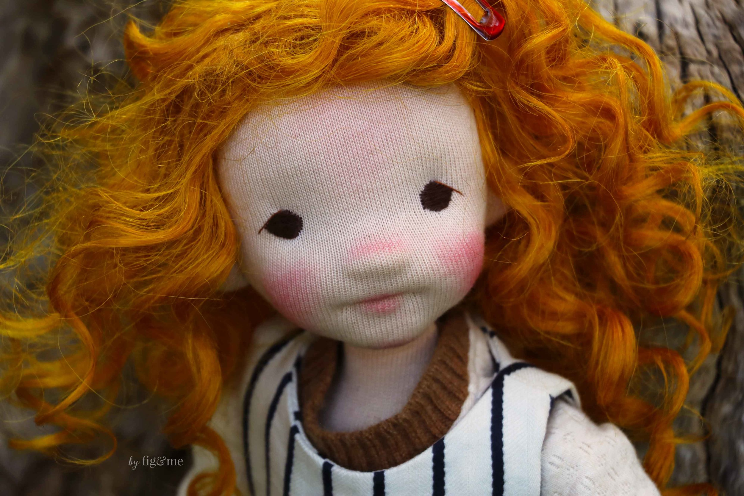 Rye, a natural fiber art doll by Fig and Me.