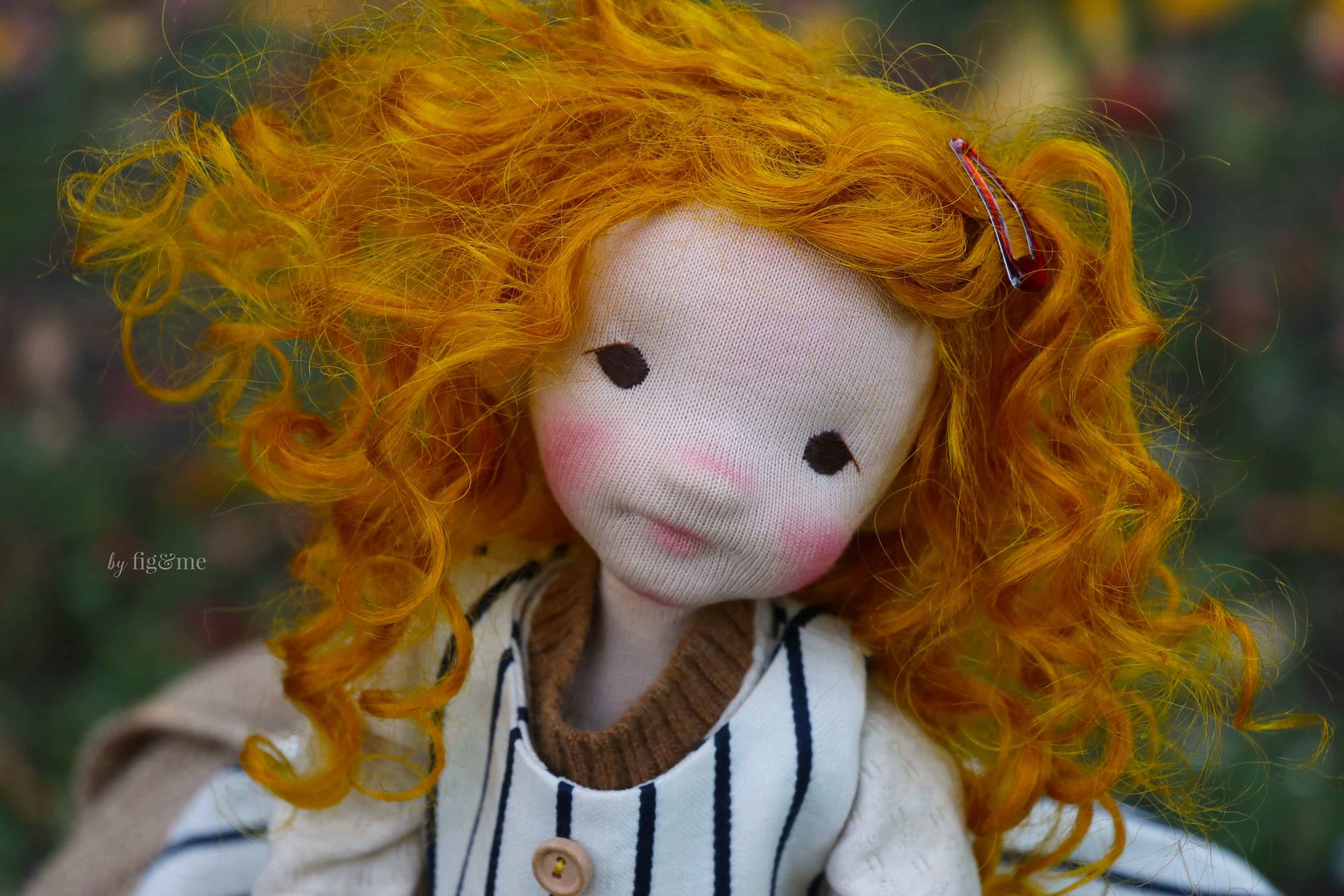 Miss Rye, an October child. Art doll by Fig and Me.