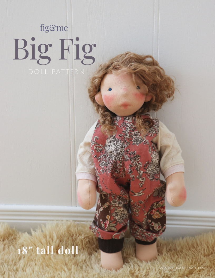 Make a waldorf-inspired, natural fiber art doll, with this Fig and Me doll pattern.