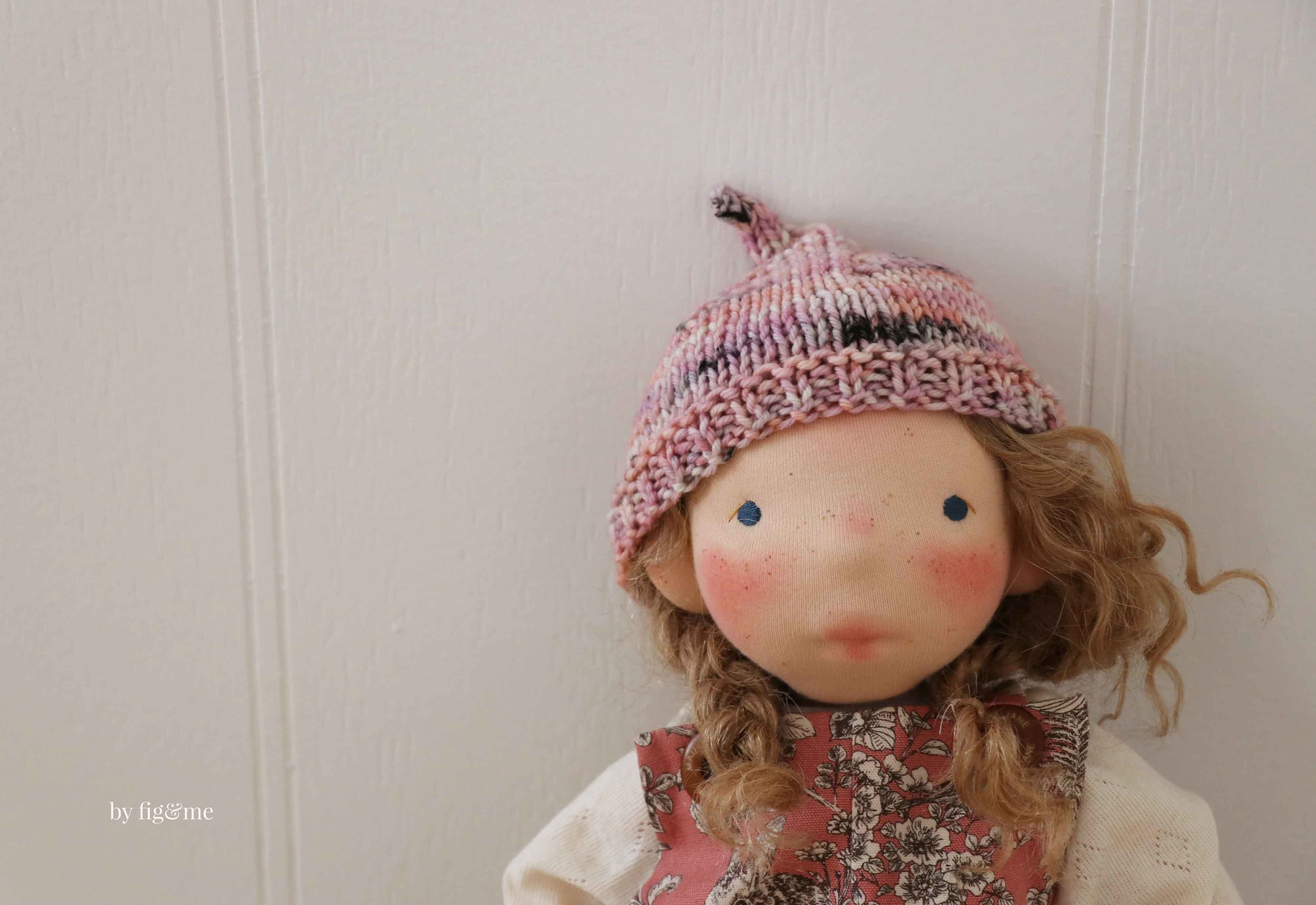 Make a doll with this new doll pattern: the Big Fig by Fig and Me.