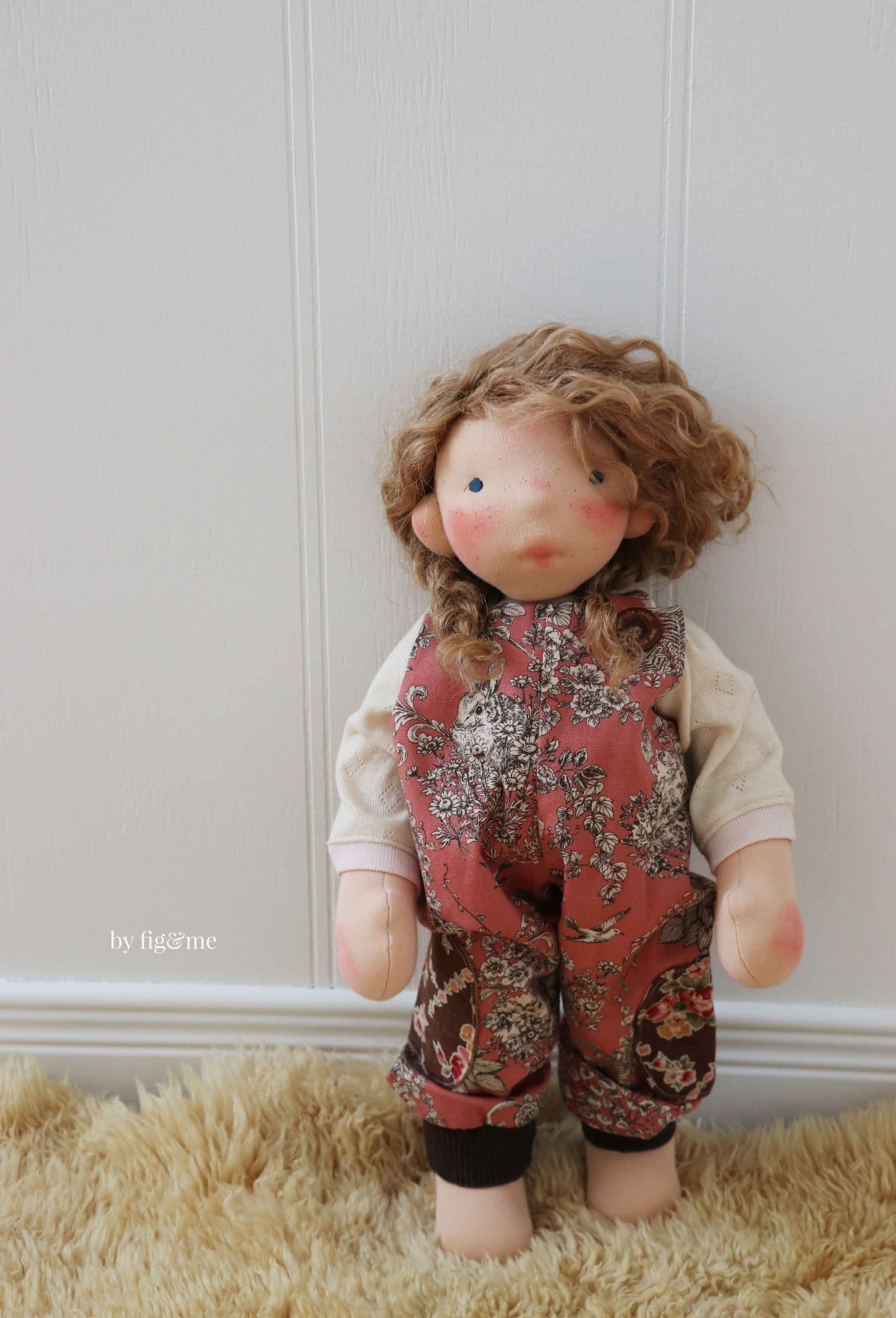 Use the Big Fig doll making pattern to create a doll like her. via Fig and Me.