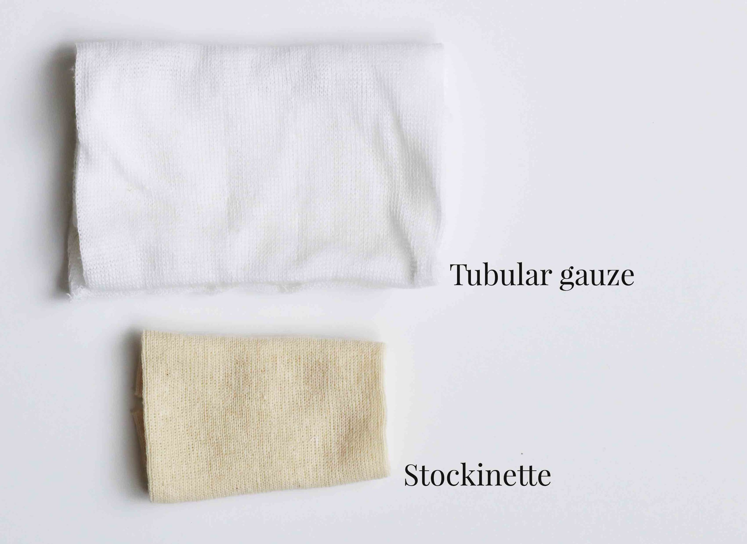 To form the head we use tubular gauze or stockinette. List of Dollmaking materials via Fig and Me.