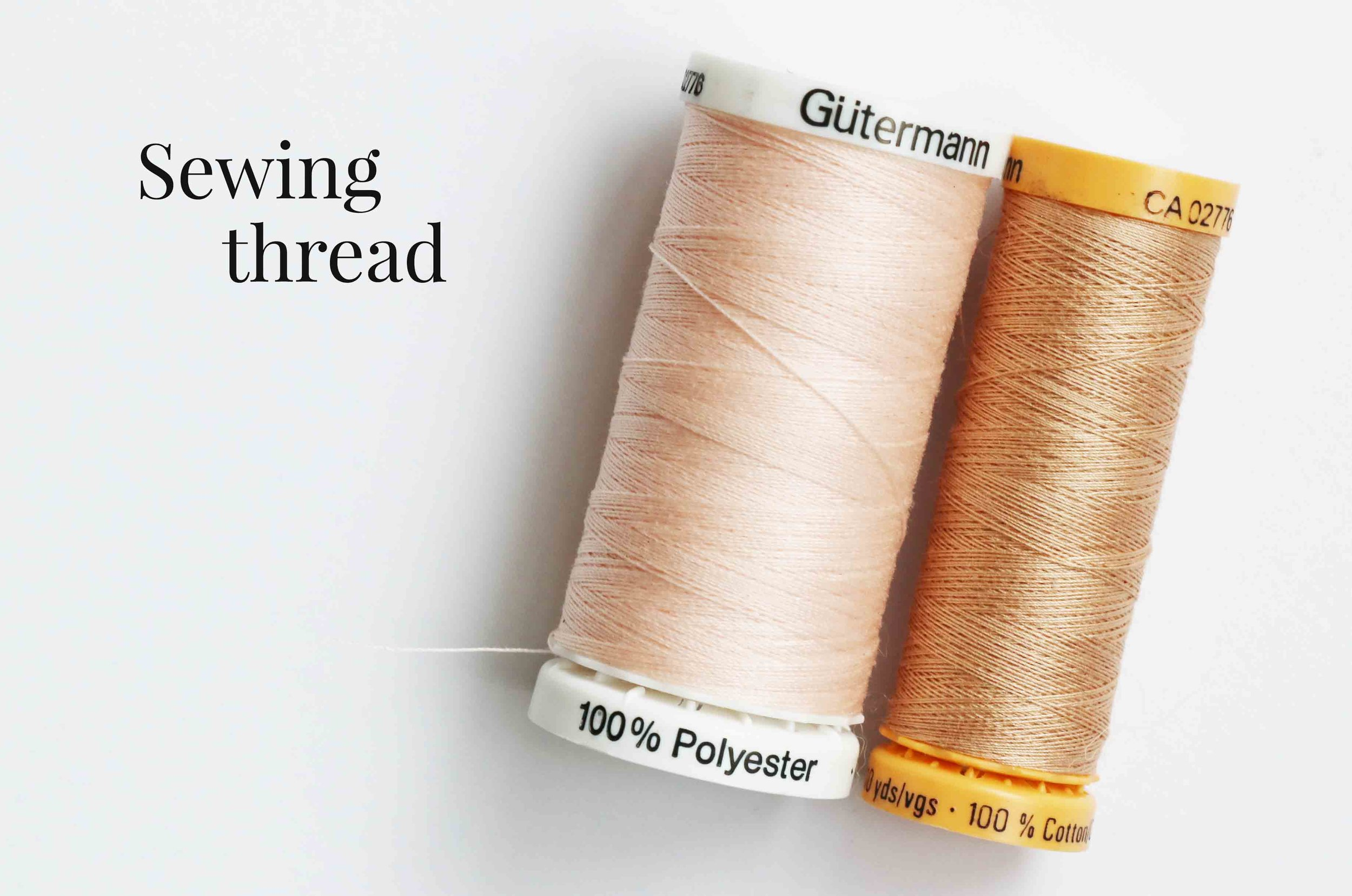 Sewing threads for sewing dolls, via Fig and me