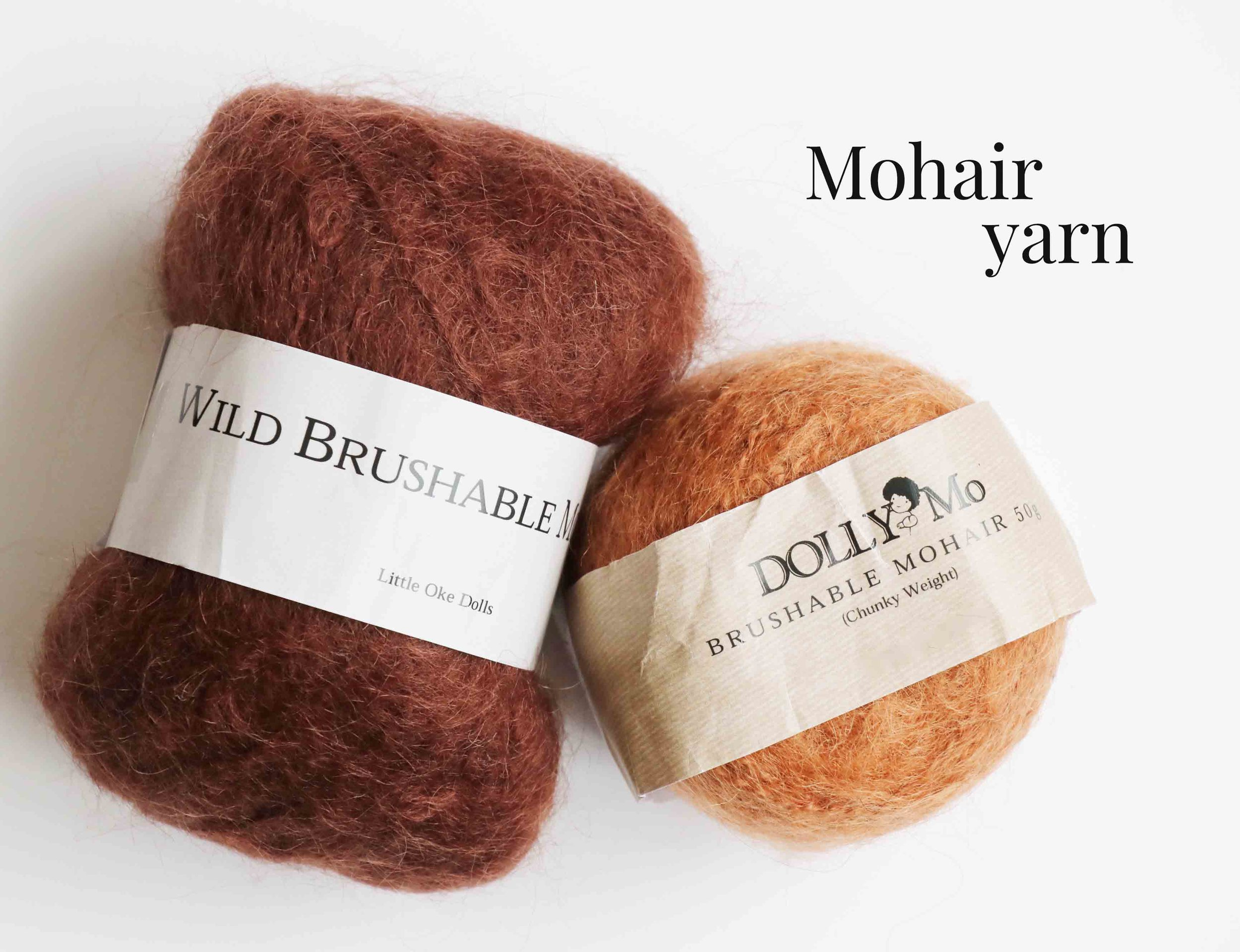 Best mohair yarn for doll hair, via Fig and Me