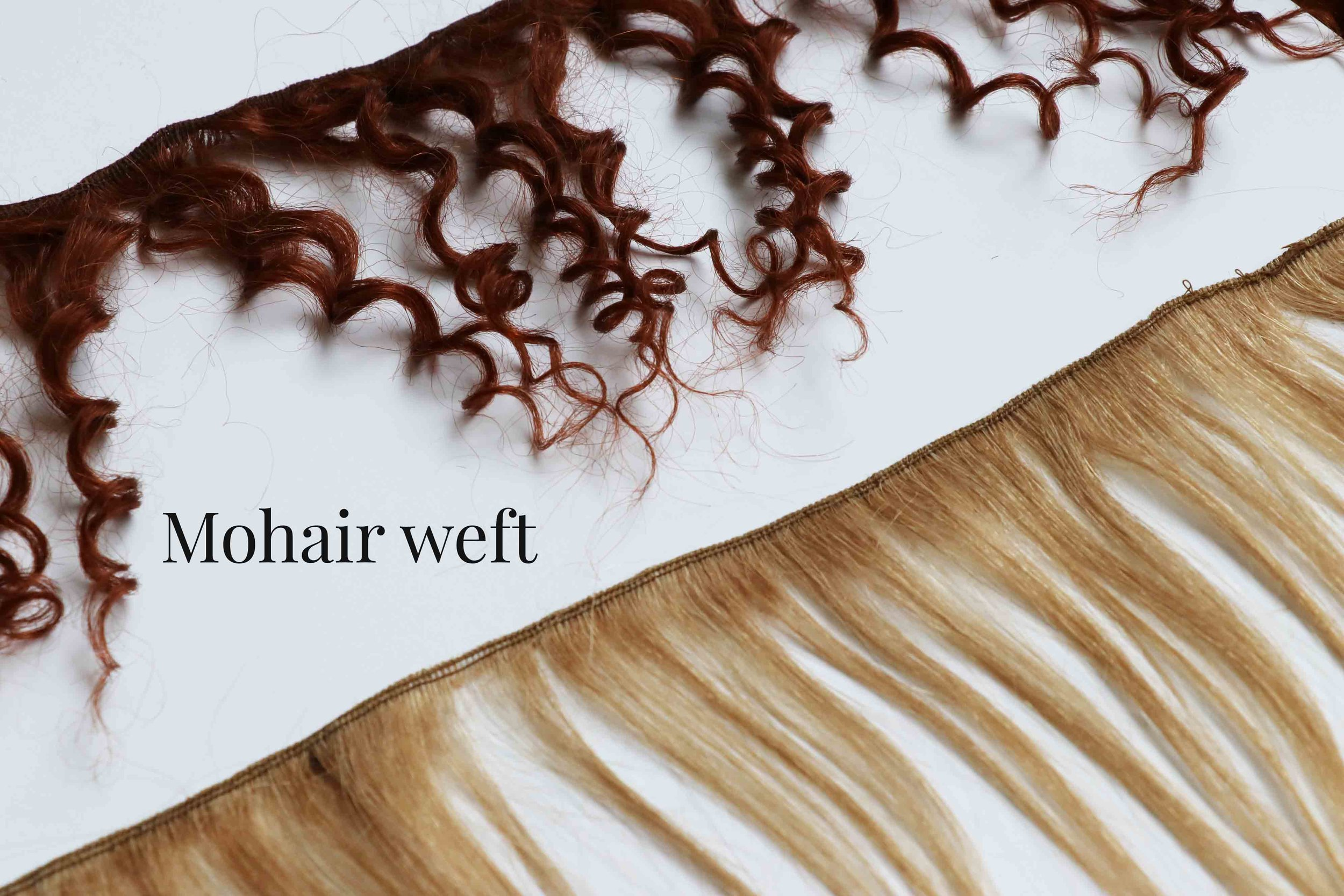 Mohair weft to make doll hair, via Fig and Me