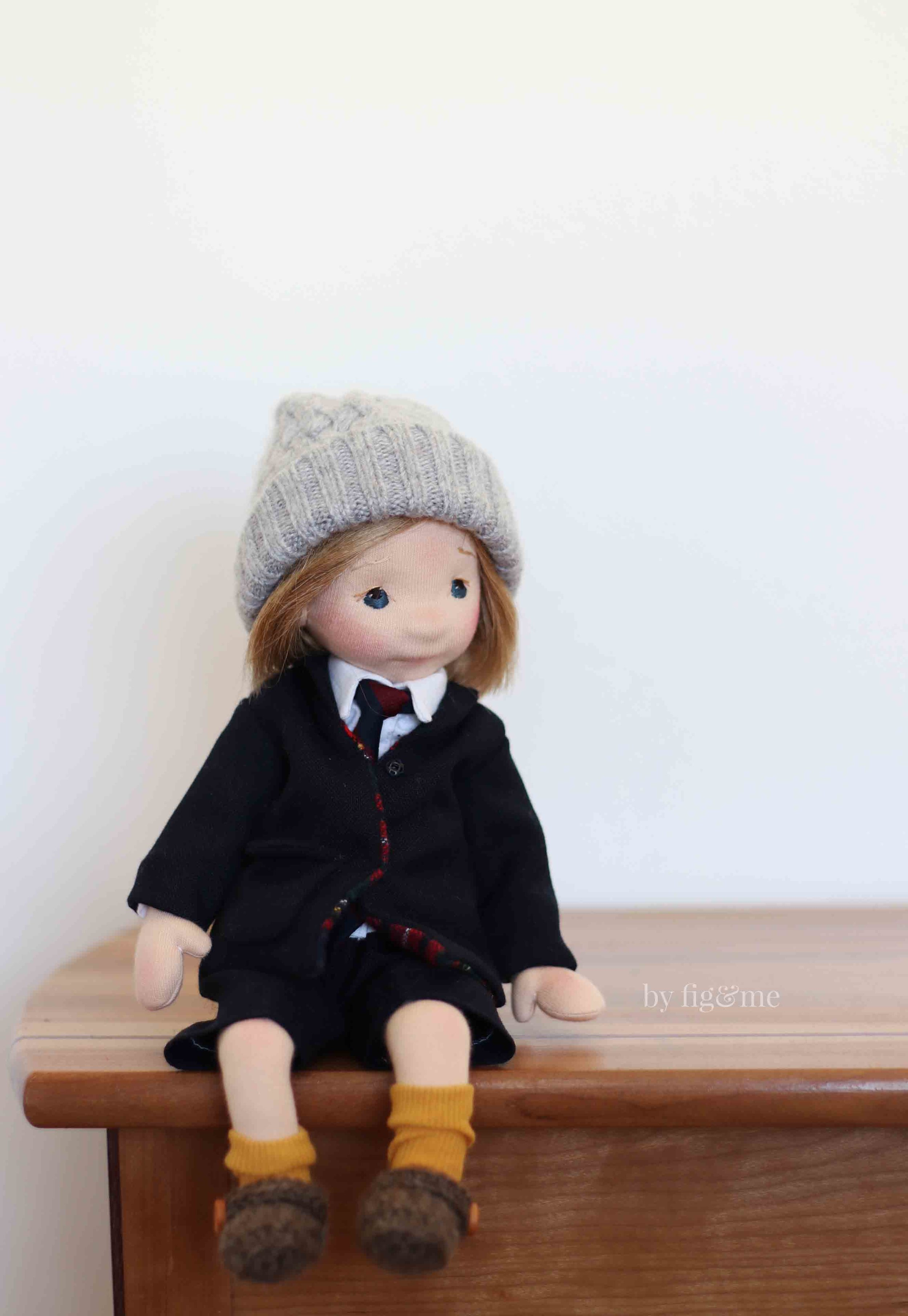 Monsieur Yuki, a cloth art doll.