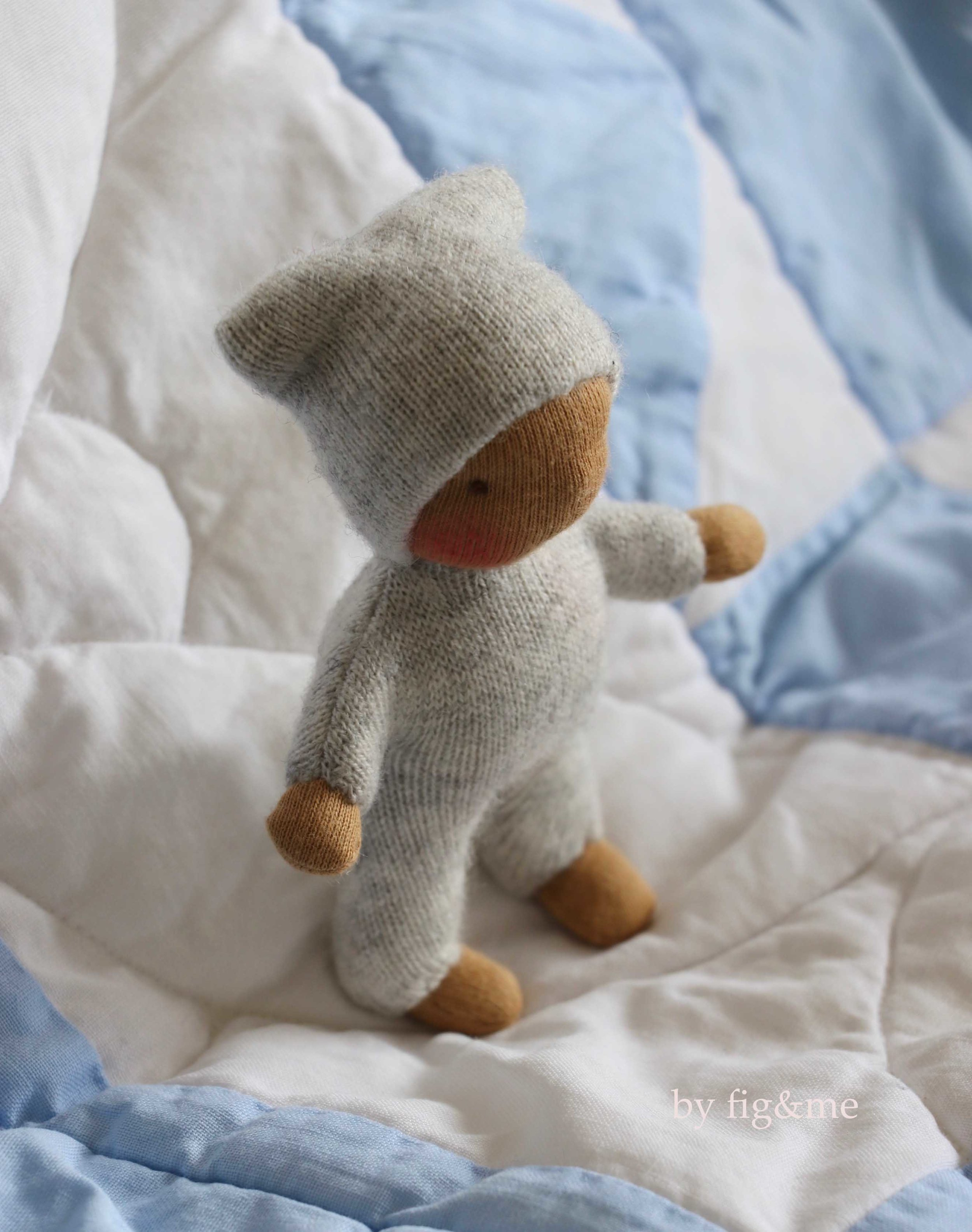 """Tiny dolls for the brave of heart: make this adorable little doll with """"In the Nursery"""" doll making pattern by fig and me."""