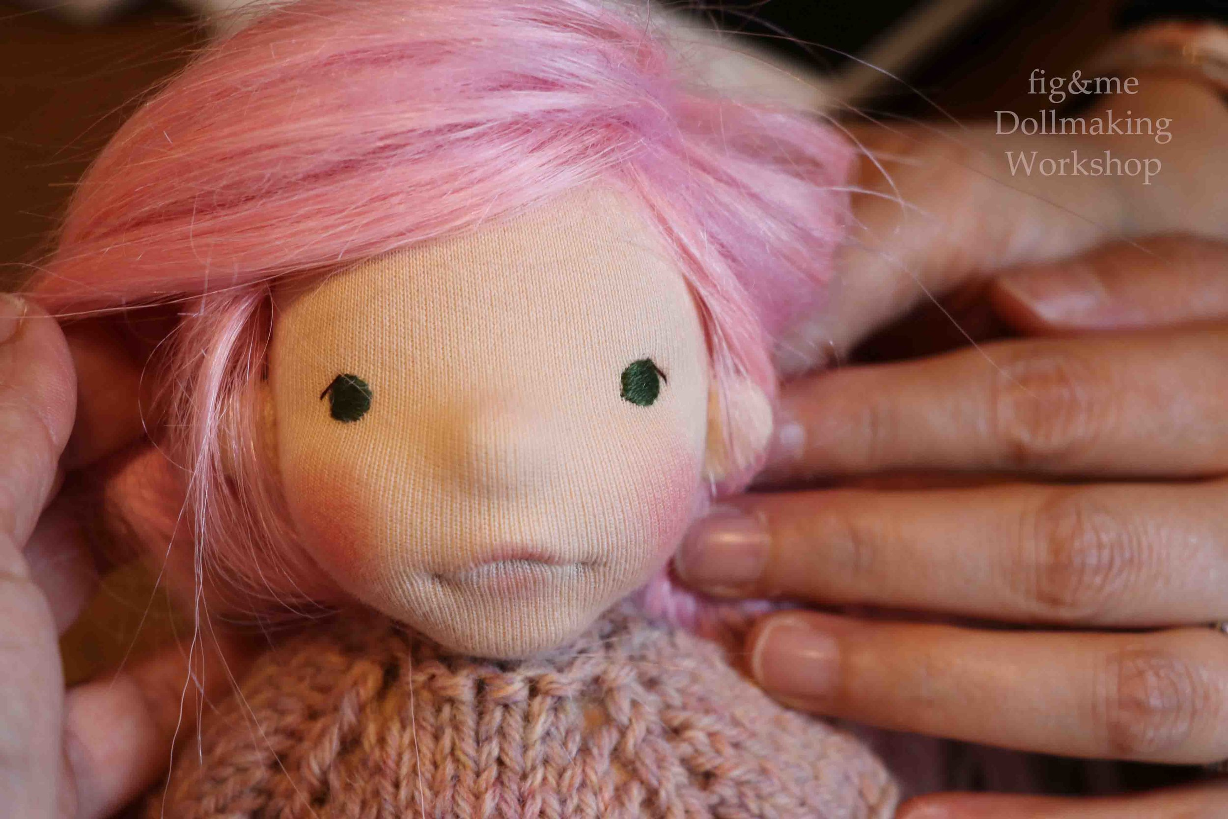 Her name is Peonia. What a beauty! Fig and me doll workshop.