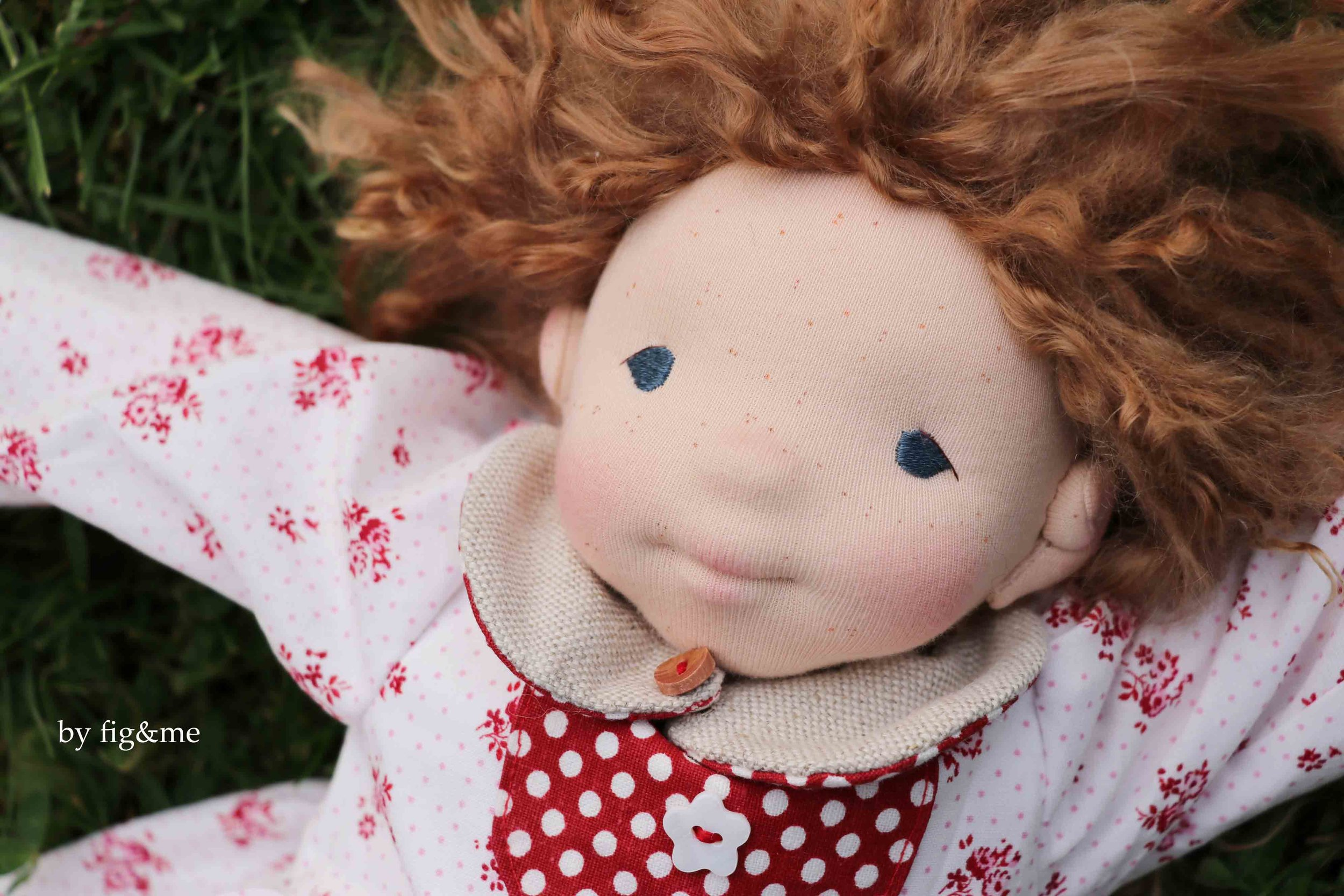 Gertrude Maud, a natural fiber art doll by fig and me.