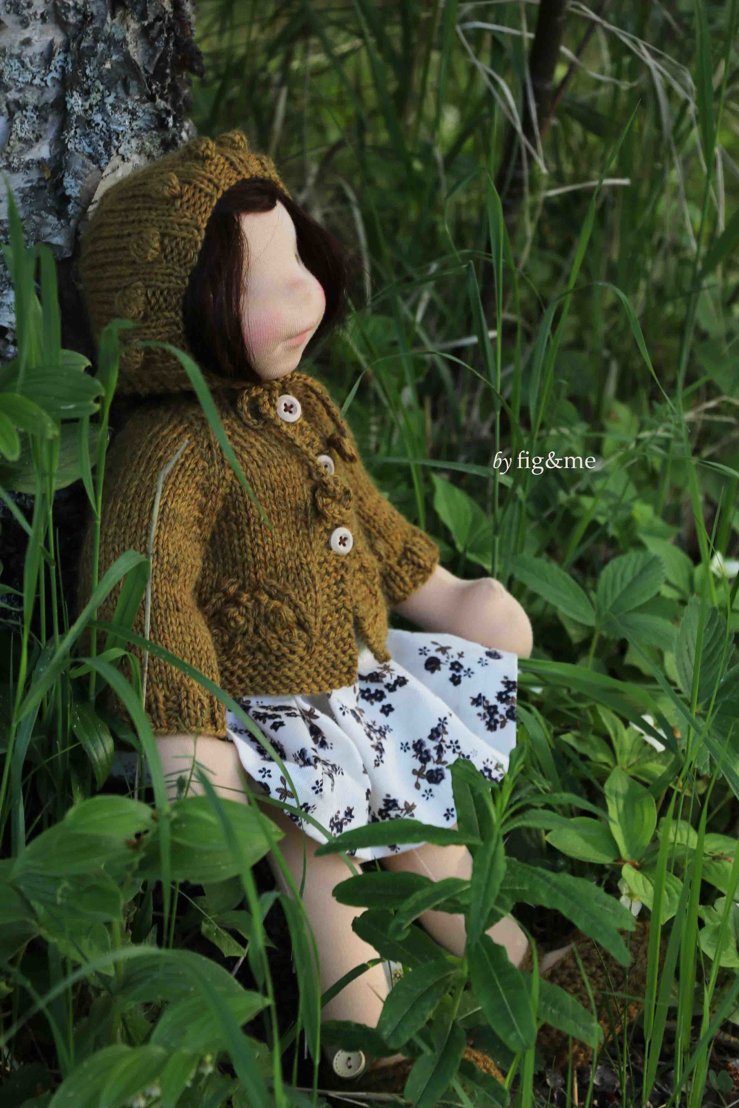 Maggie and the golden thread, art doll by fig and me.