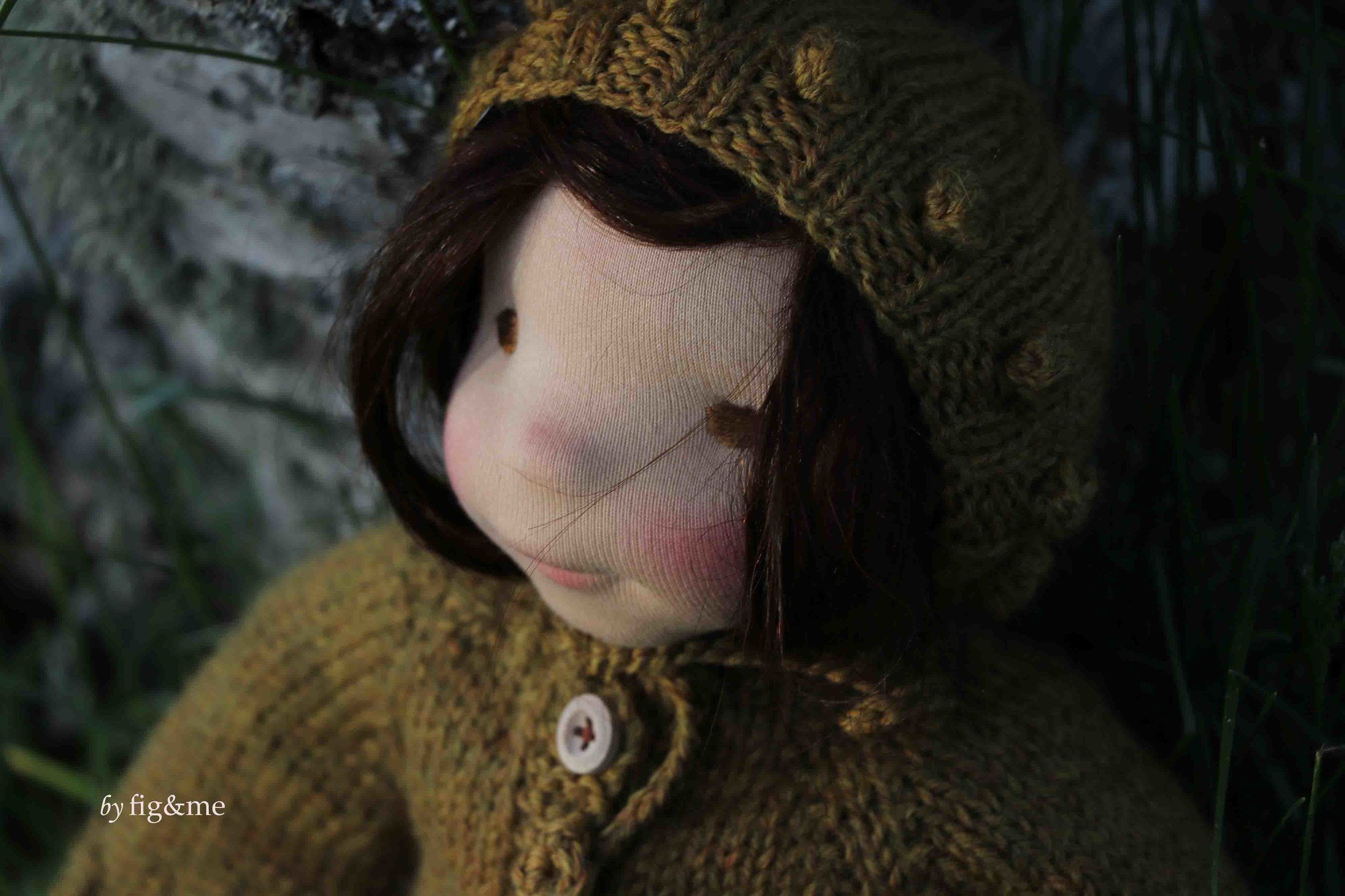 Maggie in her hand knits. by fig and me