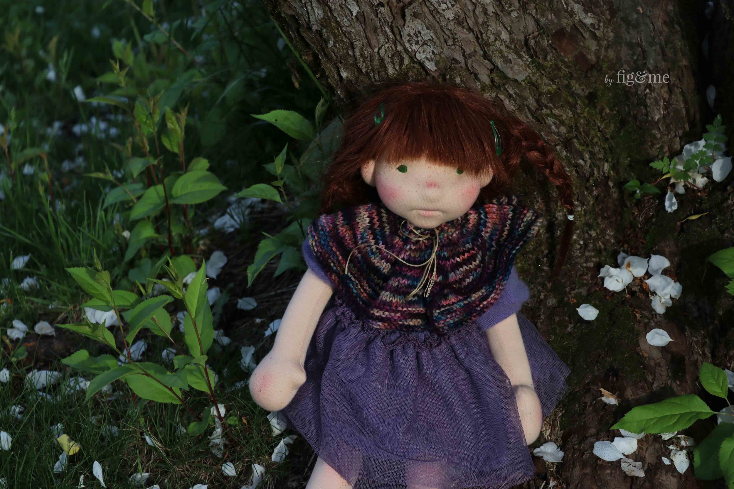 Bernadette in the spring, by fig and me.