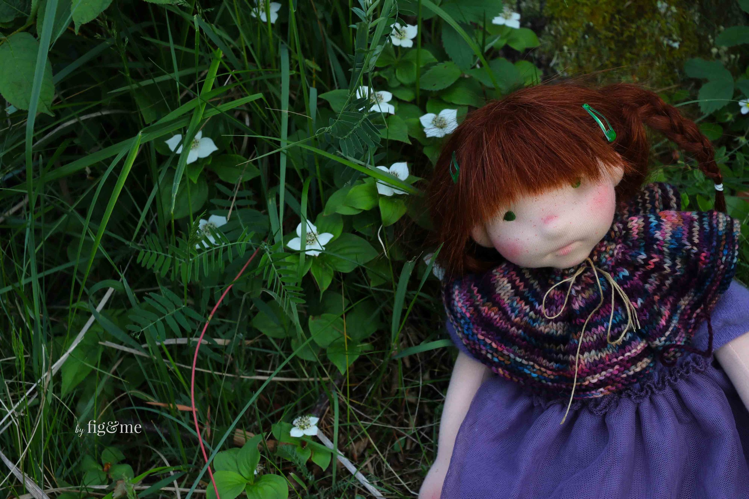 Bernadette in the garden, by fig and me.