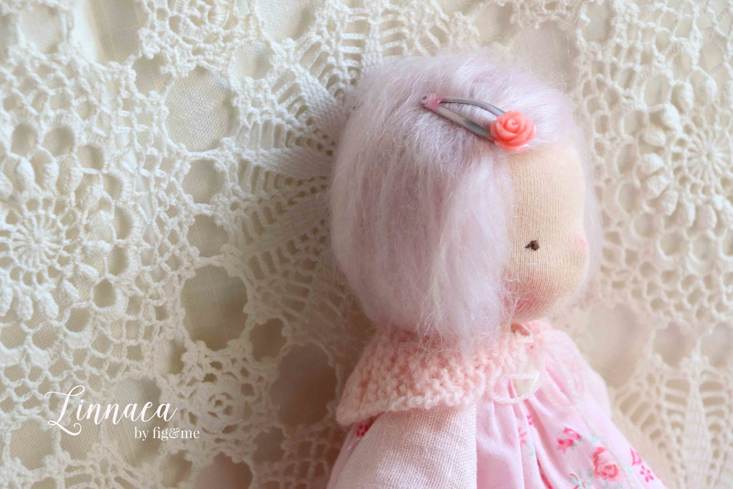 Linnaea, a waldorf-inspired natural doll by fig and me.
