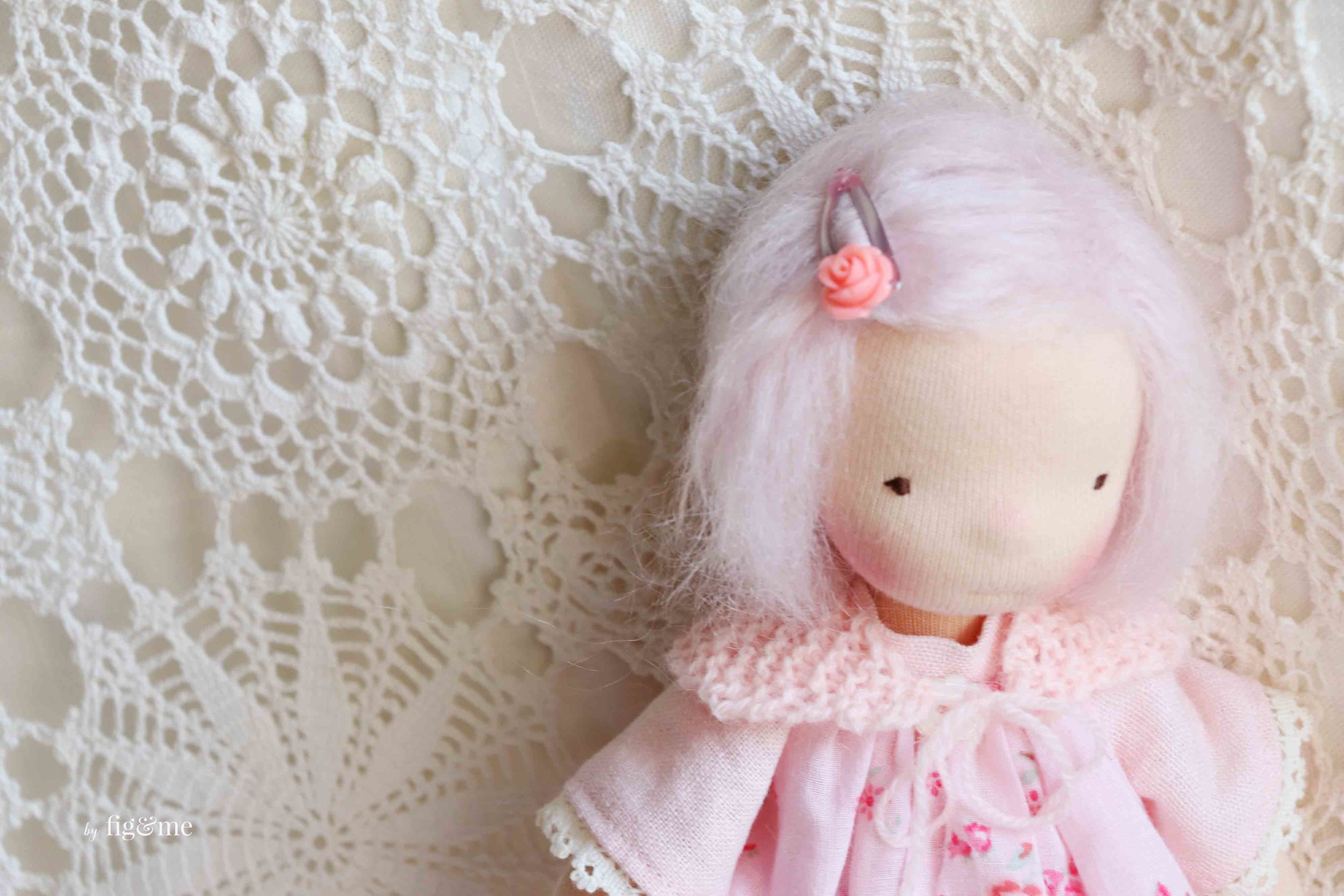 Linnaea, waldorf inspired doll by fig and me.
