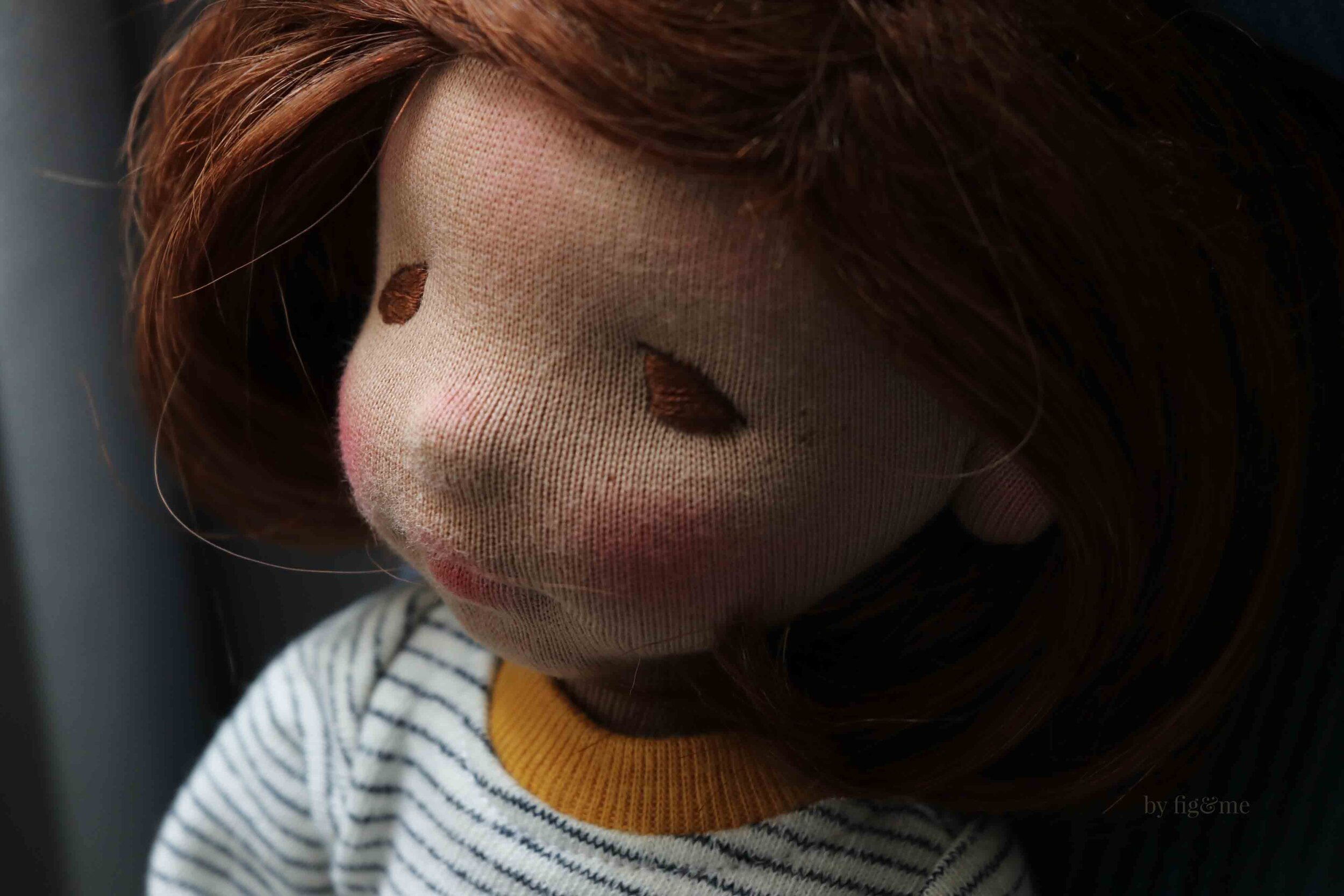 Kiva, a natural fiber art doll by Fig and Me