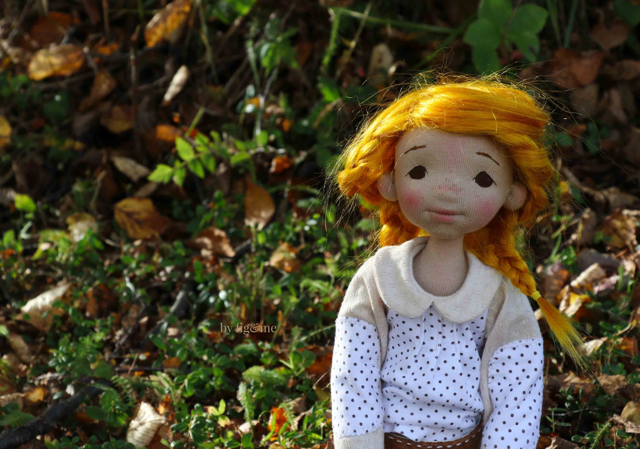Winona, the first born daughter, a natural fiber art doll by Fig and Me