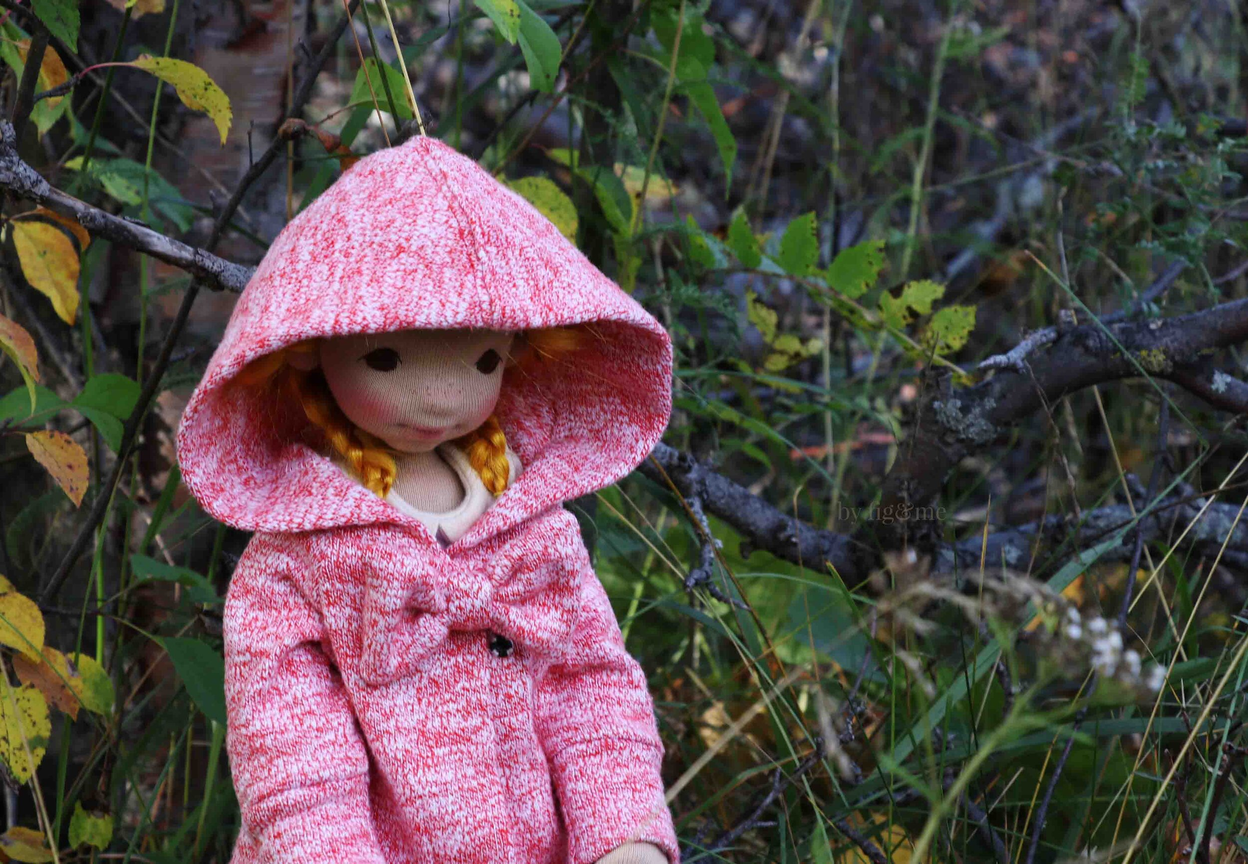 Beautiful fall doll hoodie, by fig and me