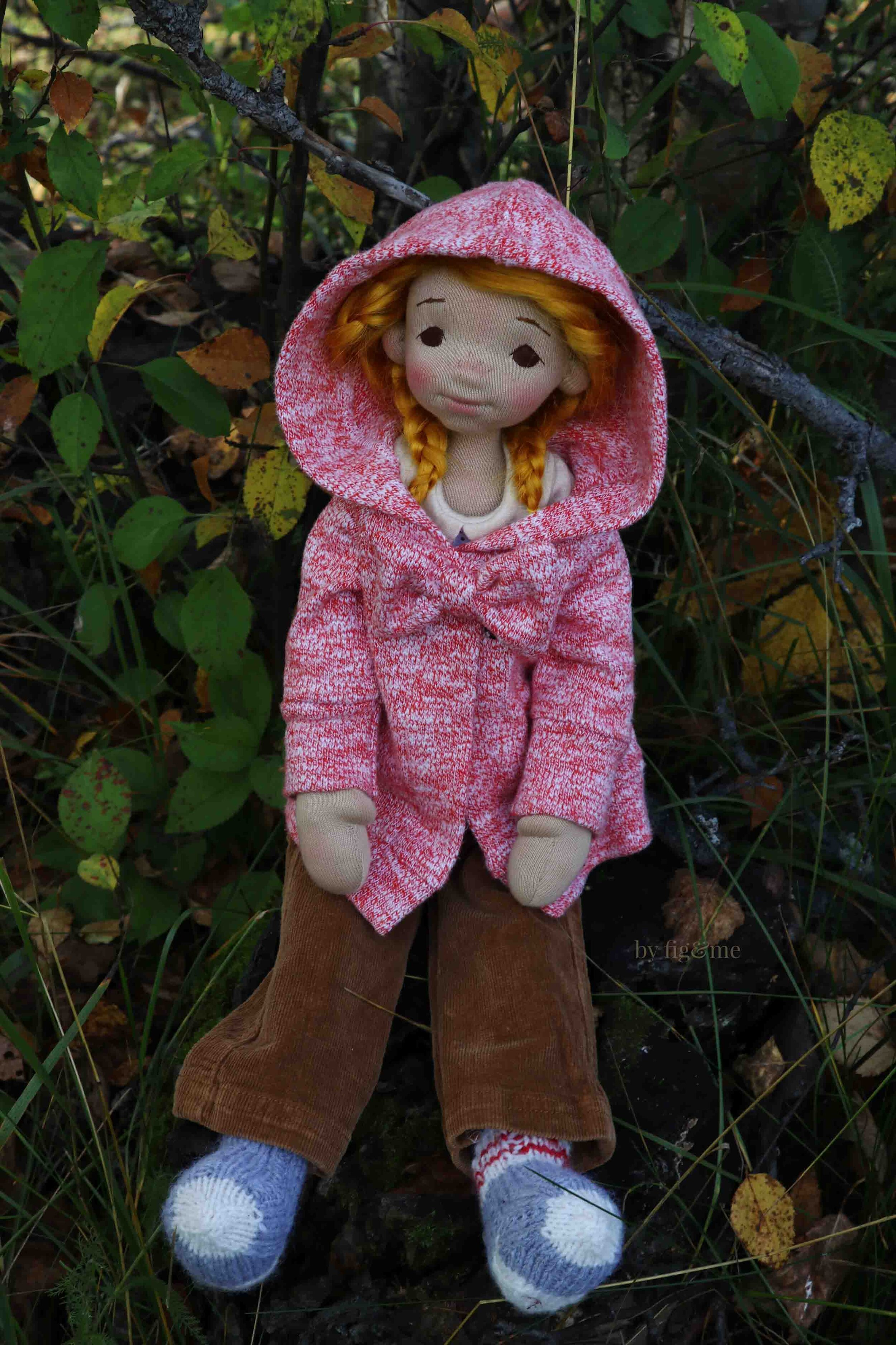 Winona in her fall clothing, by fig and me