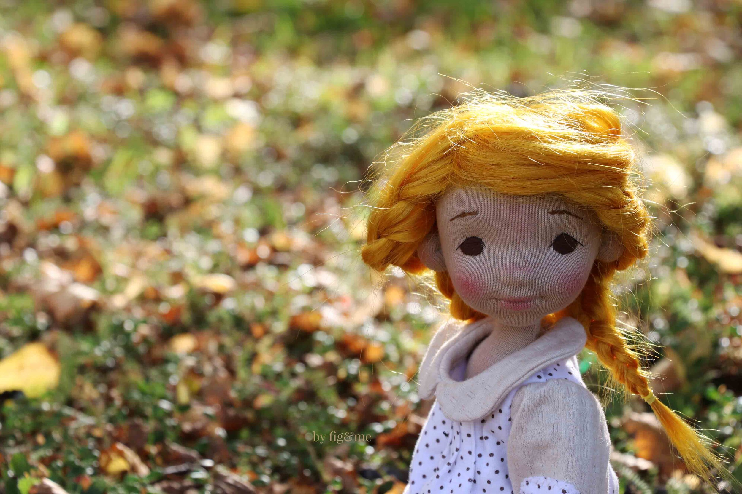 Miss Winona, a natural fiber art doll by Fig and me