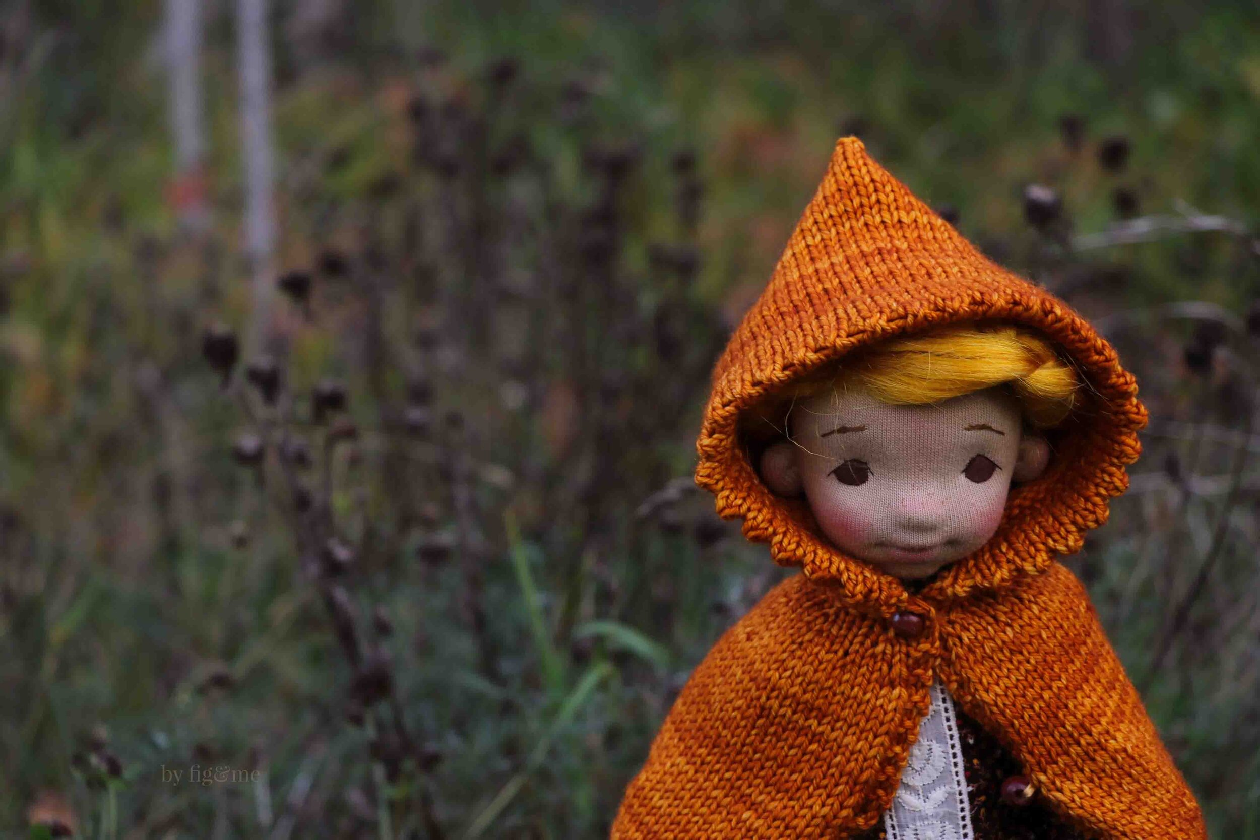 Winona, first born daughter: a natural fiber art doll by fig and me.