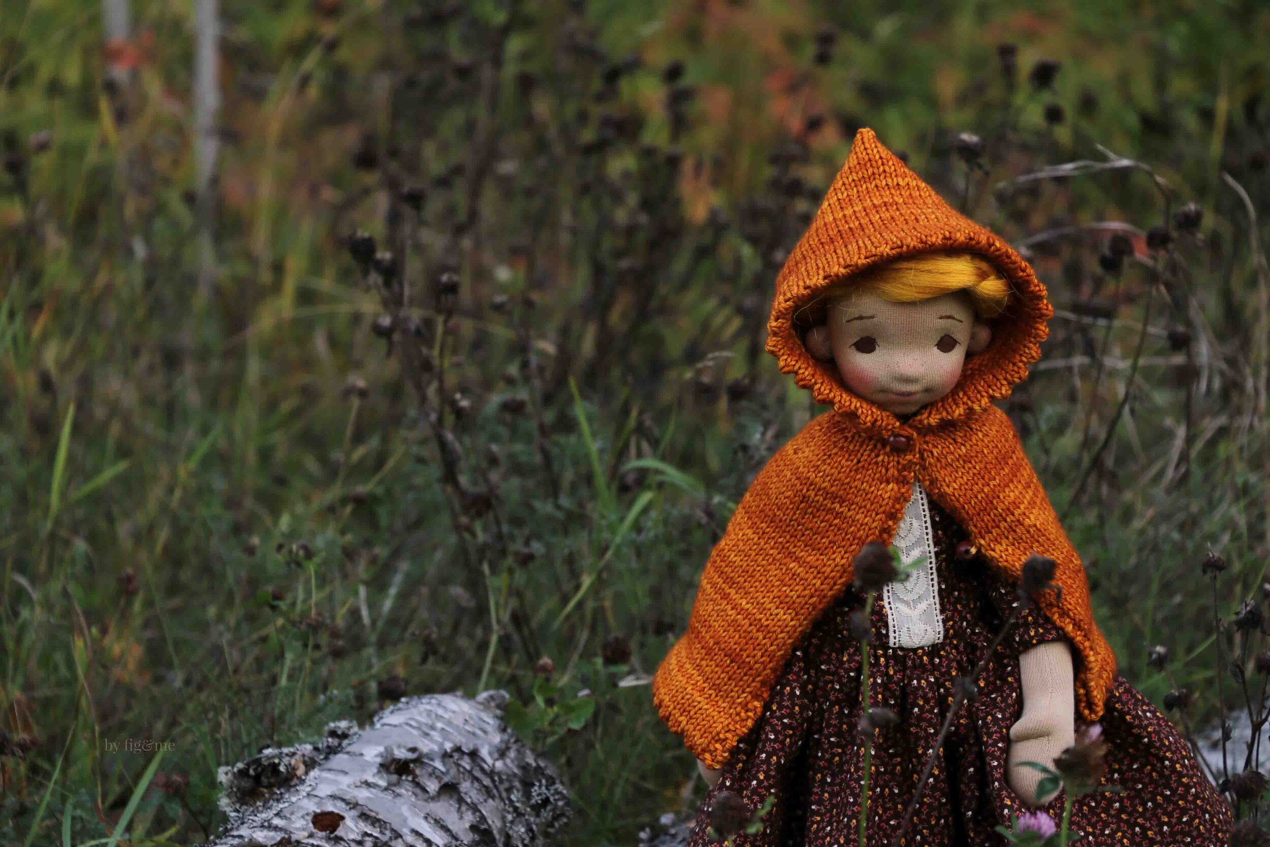 Winona, a time traveller doll by fig and me.