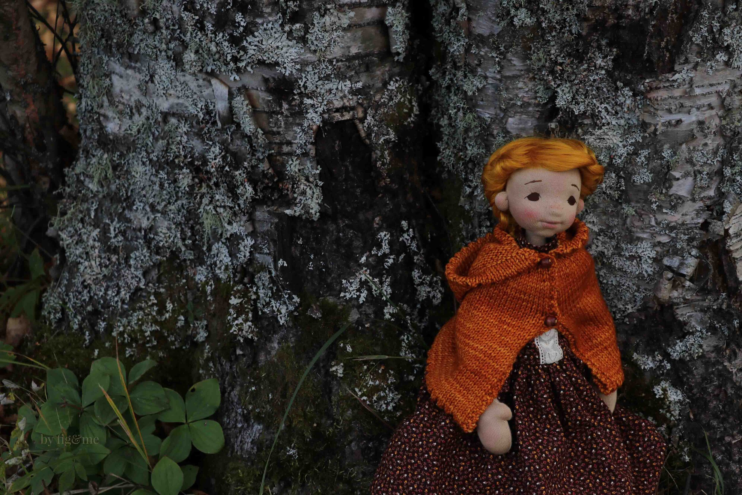 Winona, a natural fiber art doll by fig and me.