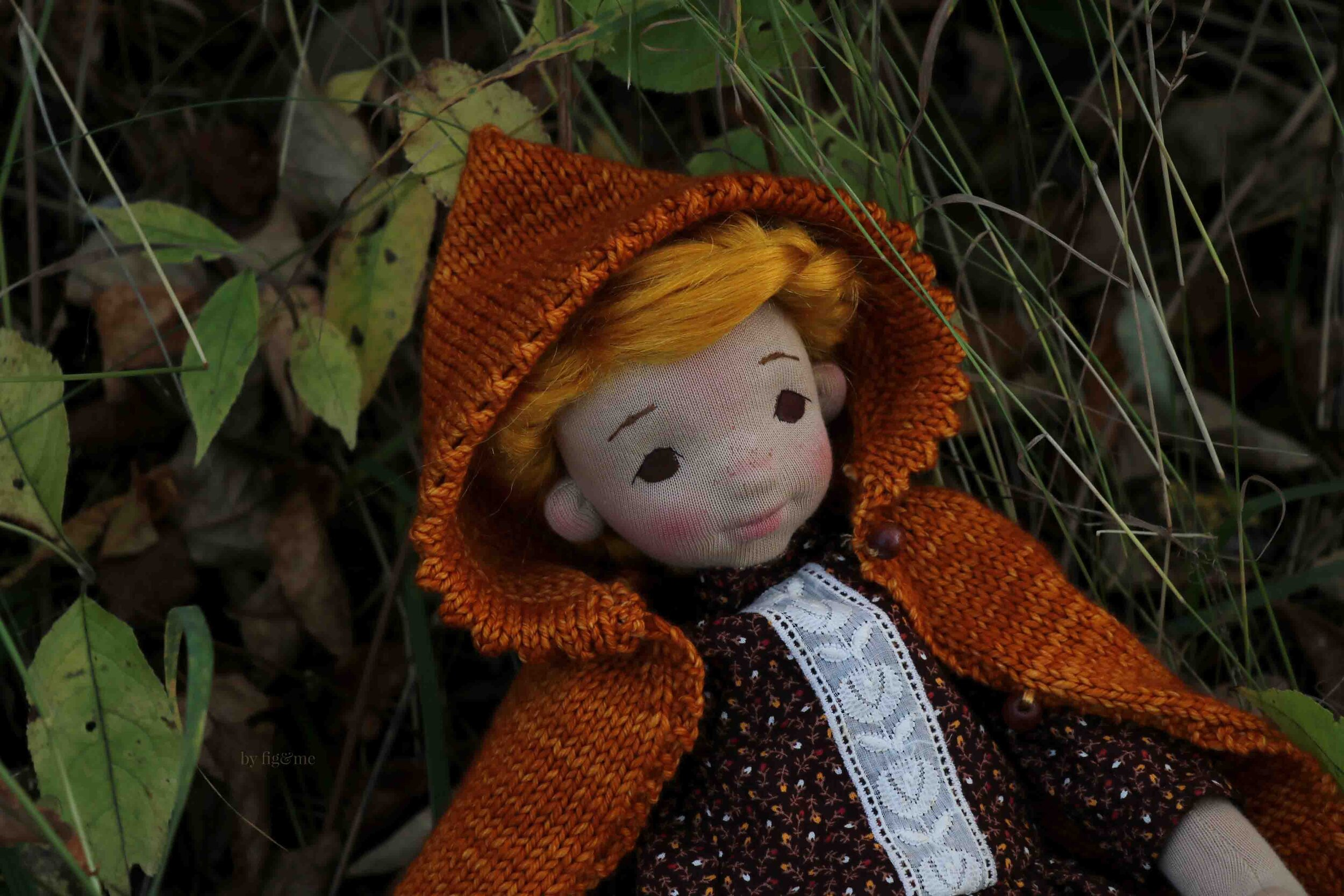Winona, a petite fig art doll by fig and me