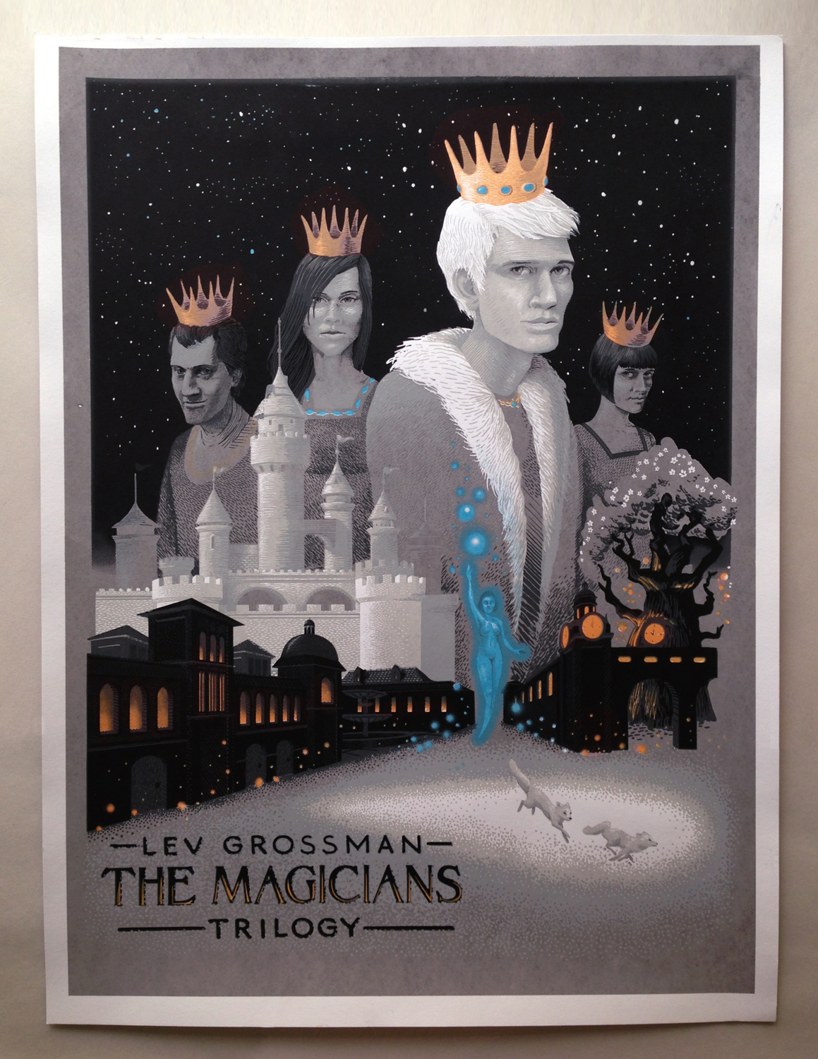 5 colors, 18x24 limited edition print release for the release of the 3rd book in Lev Grossman's Magicians series, the Magician's Land. This print is now officially available on my  etsy store.
