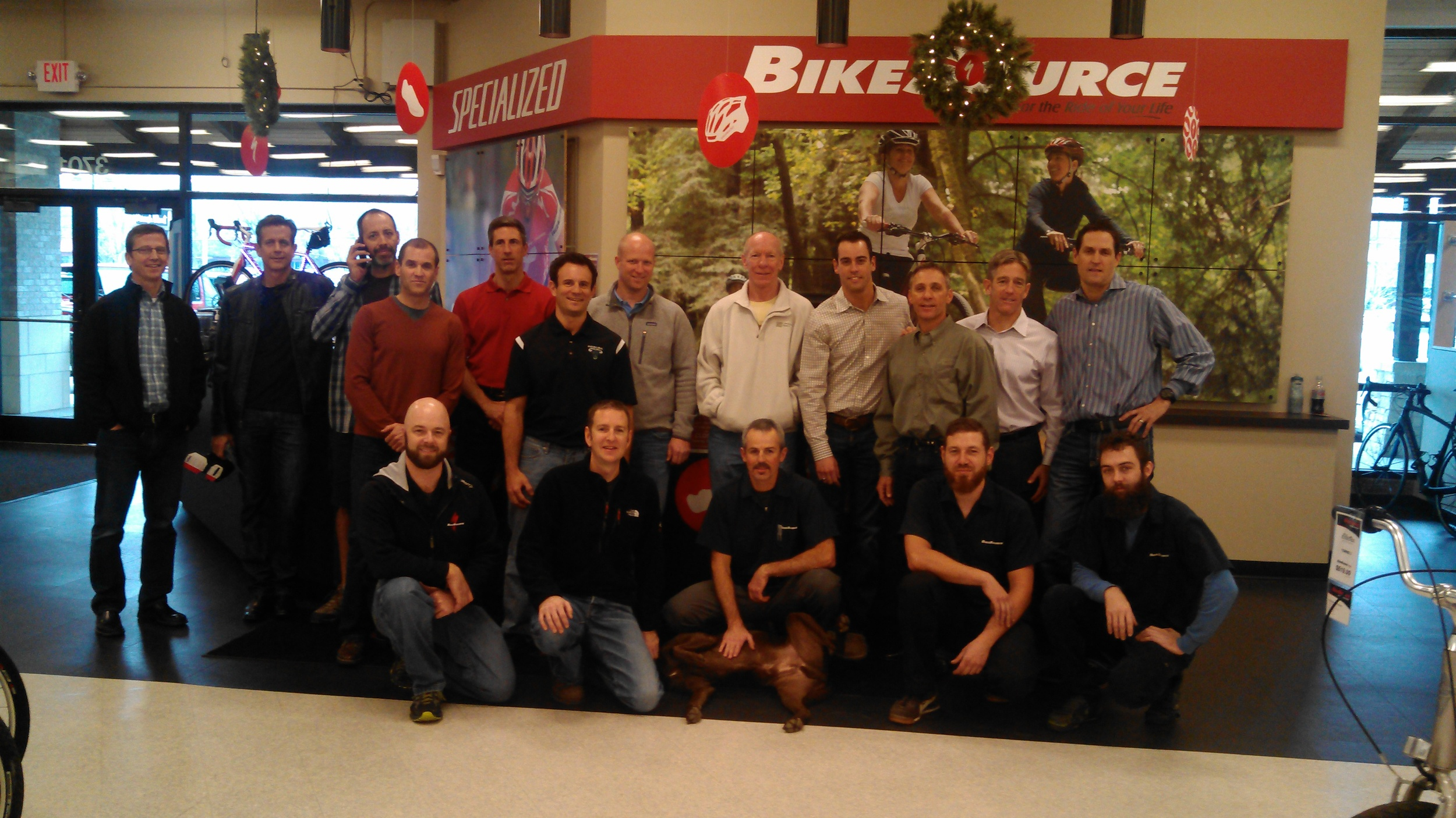 The Raging Bulls host a lunch for the great crew at Bike Source