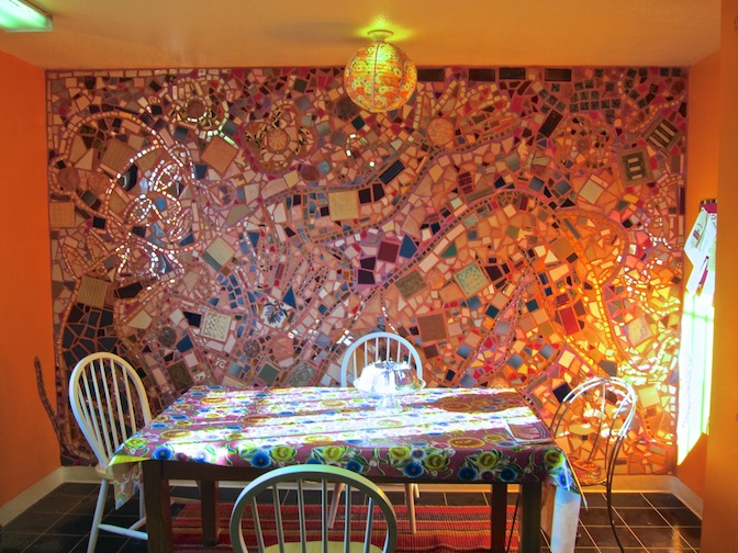 Mosaic by Isaiah Zagar and students - an inspiration to this project