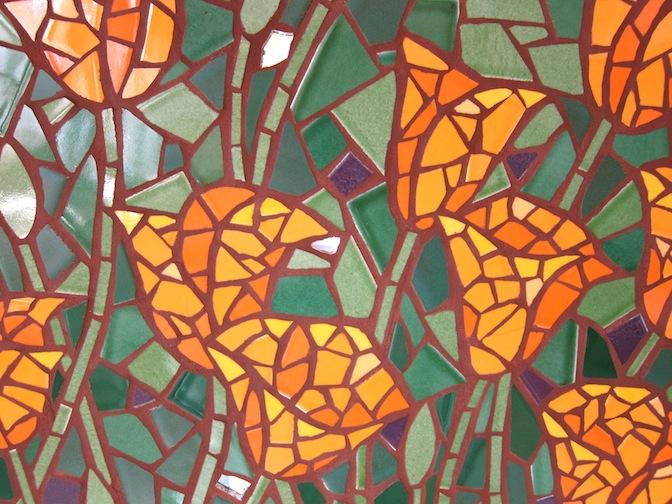Tile backsplash detail