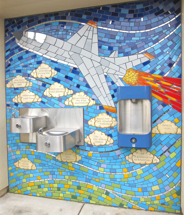 Flight: Donor recognition mural at Larsen Park, SF
