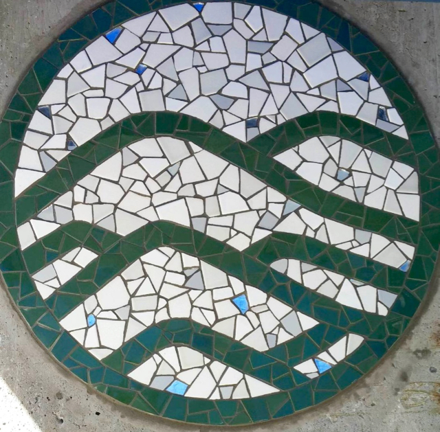 Logo for Seven Hills School, Walnut Creek, 3' diameter
