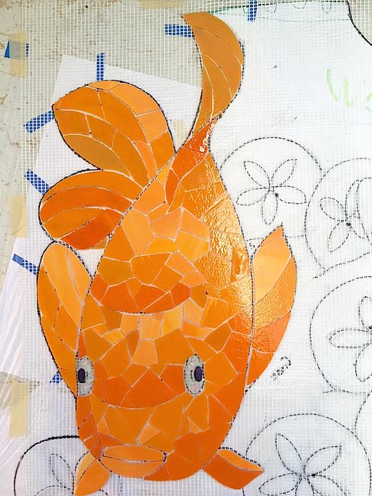 Cute Garibaldi Fish