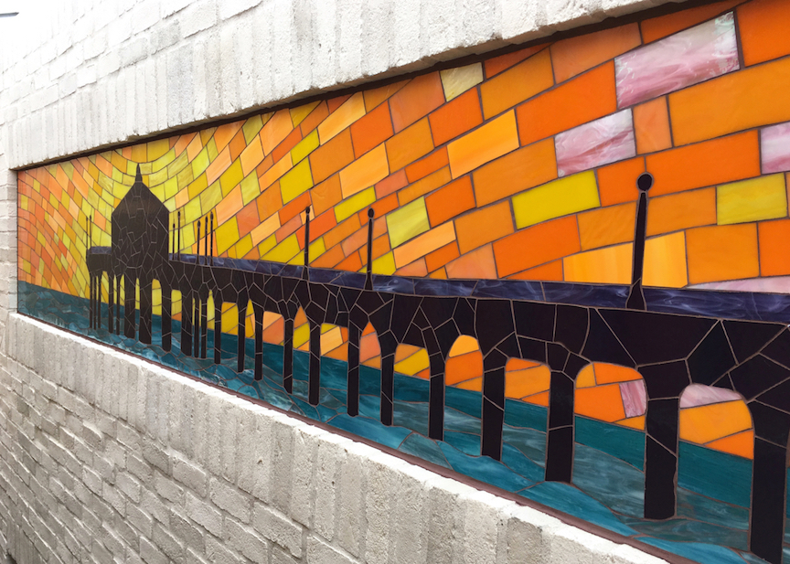 Pier (detail), Skechers store facade, Manhattan Beach, CA