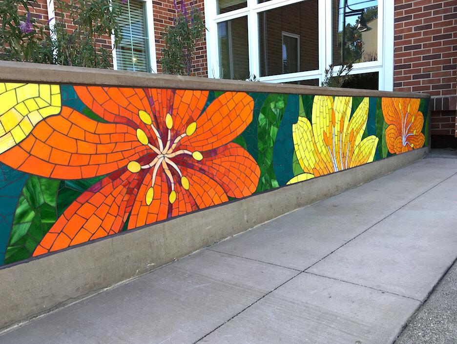 RACHEL RODI MOSAICS — Glass Flowers Mosaic Mural Installed!