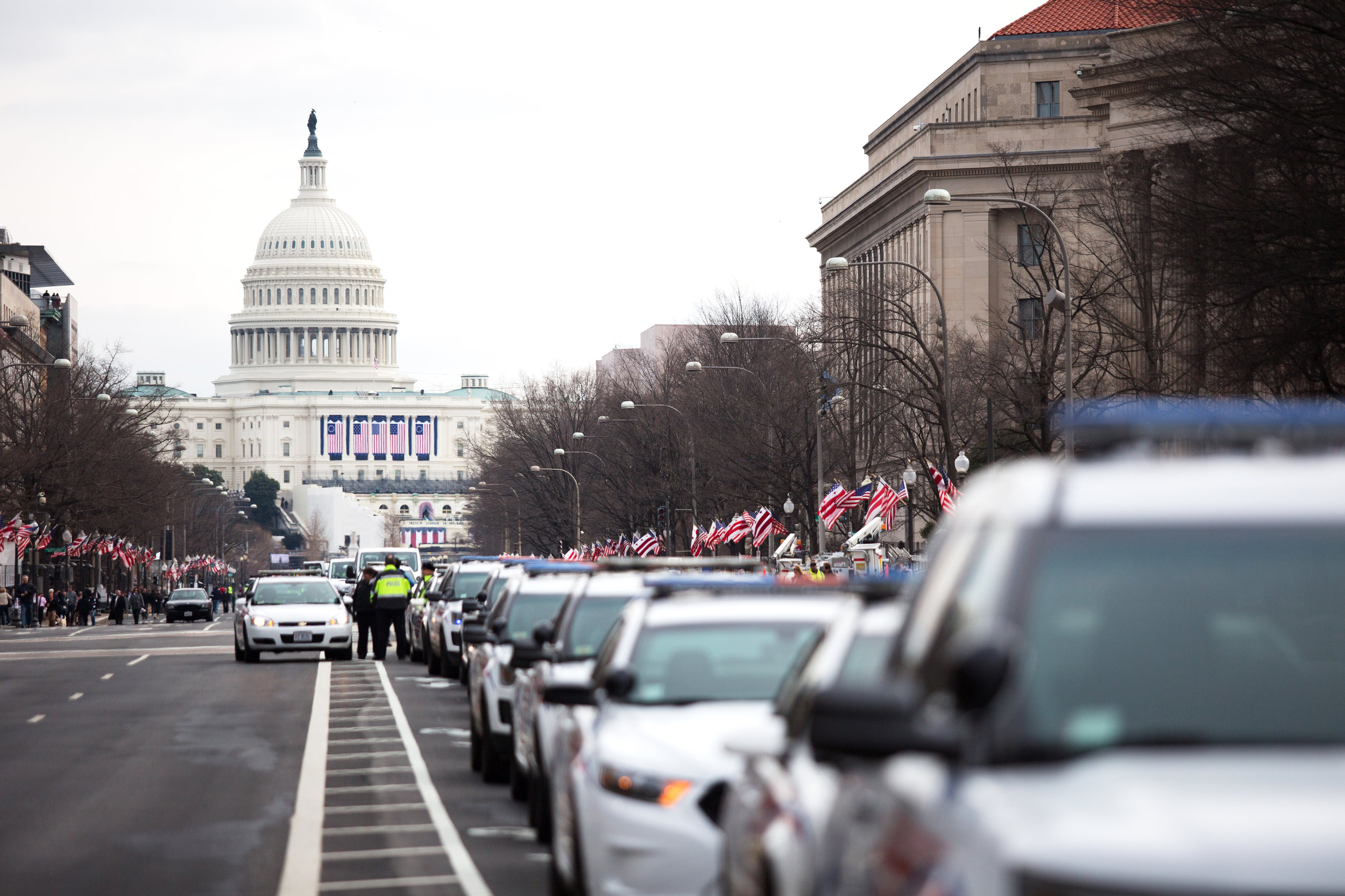 The Capitol building the morning of then President-elect Donald Trump's Inauguration on Jan. 20, 2017.