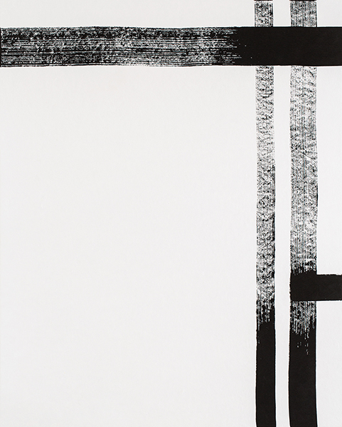 Study of Line No.05    Sumi-ink Drawing on Rice paper  120x150 (cm)  2015