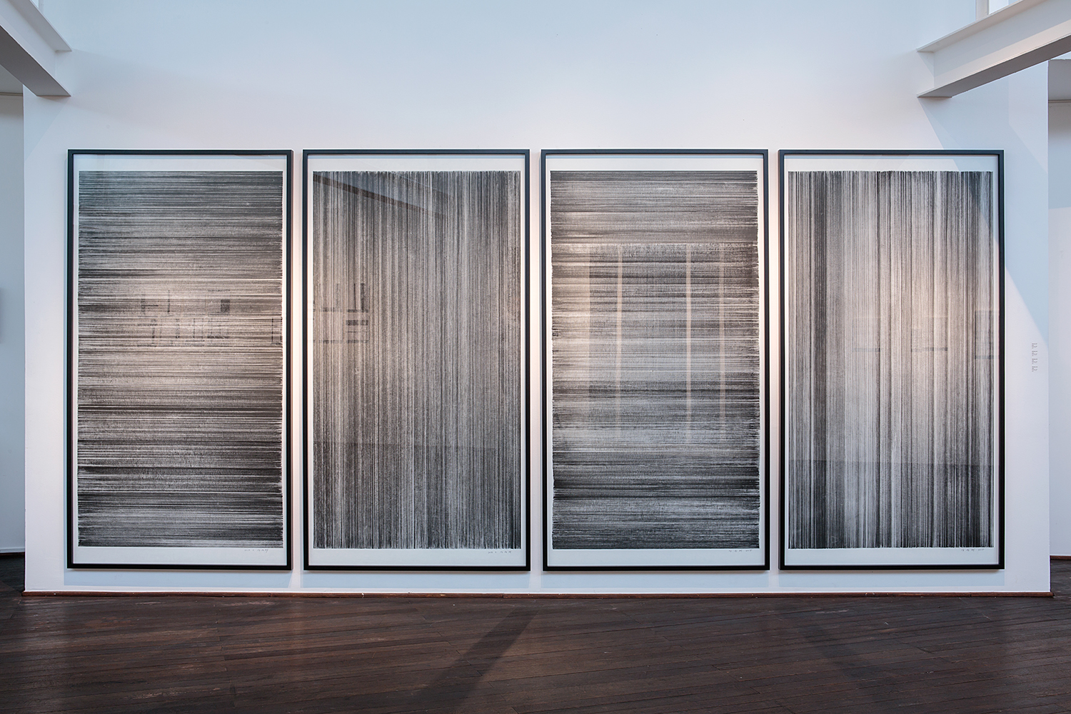 Meditation No.01, 02, 03, 04    Sumi-ink Drawing on Rice paper  113.5x213 (cm) each  2015