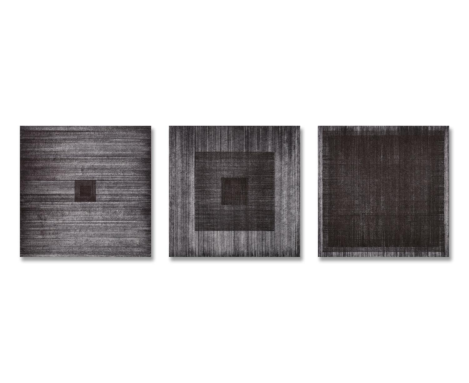 Meditation No.15, 16, 17    Sumi-ink Drawing on Rice paper  50x50 (cm) each  2016