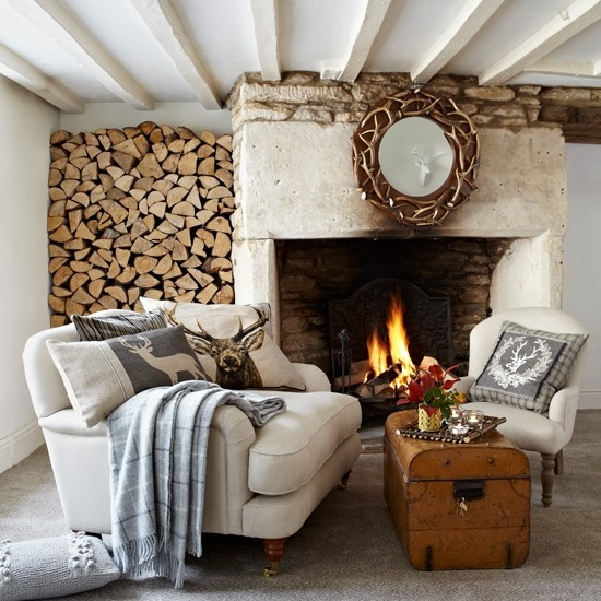 Cozy winter room images via Pinterest