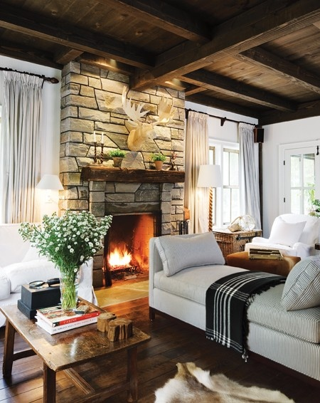 Cozy living room via House and Home