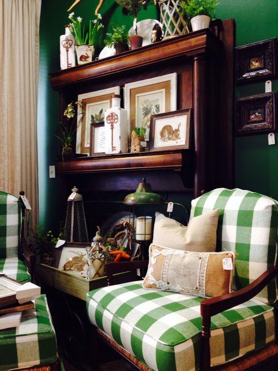 Green Check Provence Chair.jpg
