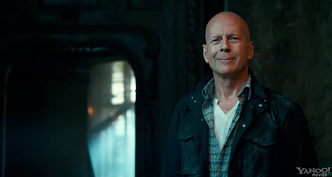 I love you Bruce, I do. But that smug look? You did not earn it this time around. (photo from joblo.com)