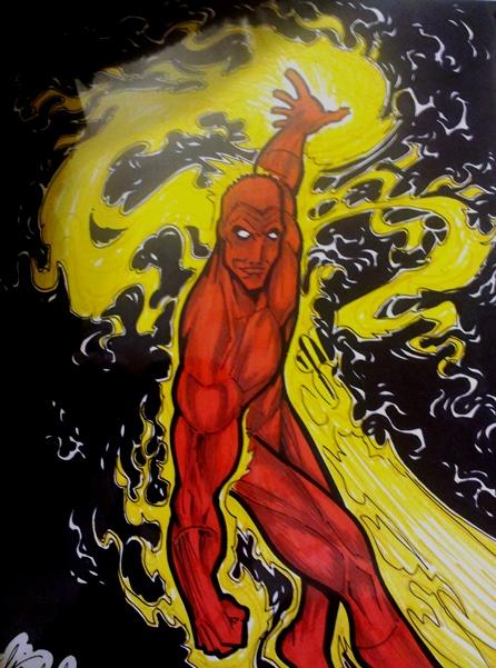 Human Torch  Artist: Burke
