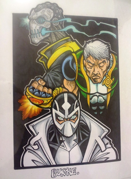 Morrison's Mutants (from top) Xorn, Marvel Boy, and Fantomex  Artist: Burke