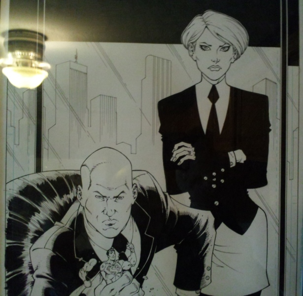 BONUS!: My wife and I as Lex Luthor & Mercy Graves! A wedding gift from Ben Morse and his wife as drawn by Todd Nauck! (Sorry for the image quality. It's on a frame on the wall and when I took it I didn't know I'd be using it for these purposes.)